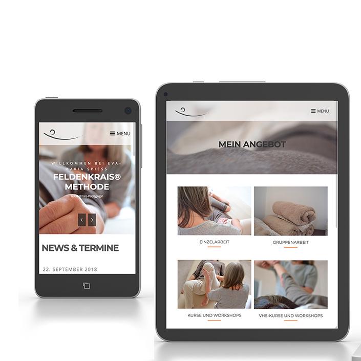 Website Tablet smartphone