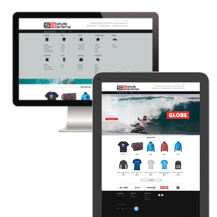 Website tablet Stylearena