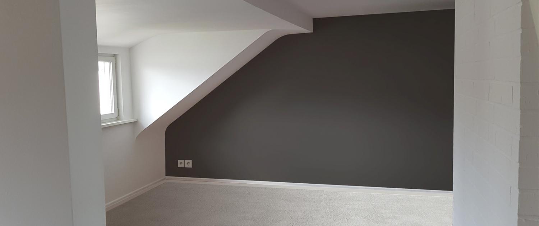 Raum schwarze Wand
